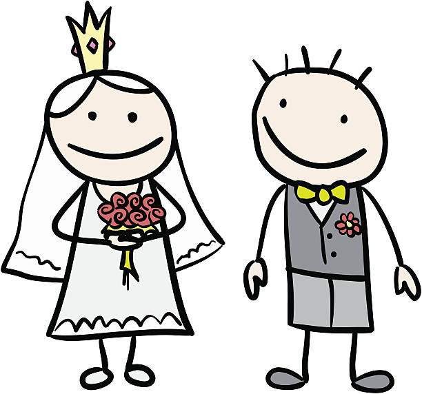 Best Stick Figure Bride And Groom Illustrations, Royalty.