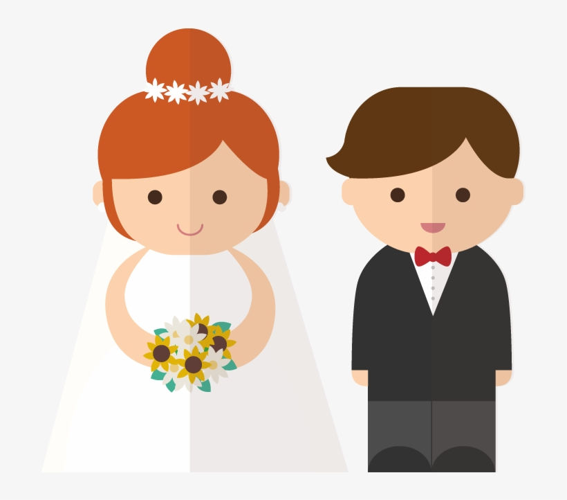 The Bride And Groom Cartoon Character.