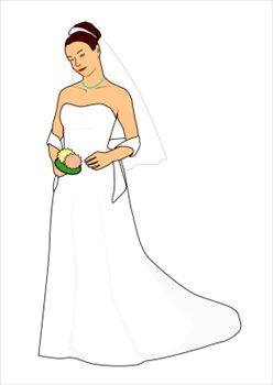 Free bride clipart.
