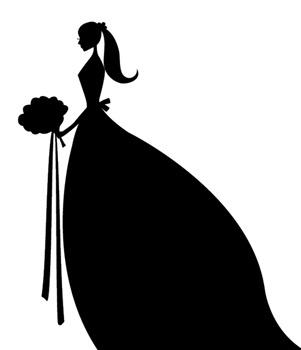 Bride clipart silhouette.