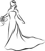 Bridal Dress Clipart.