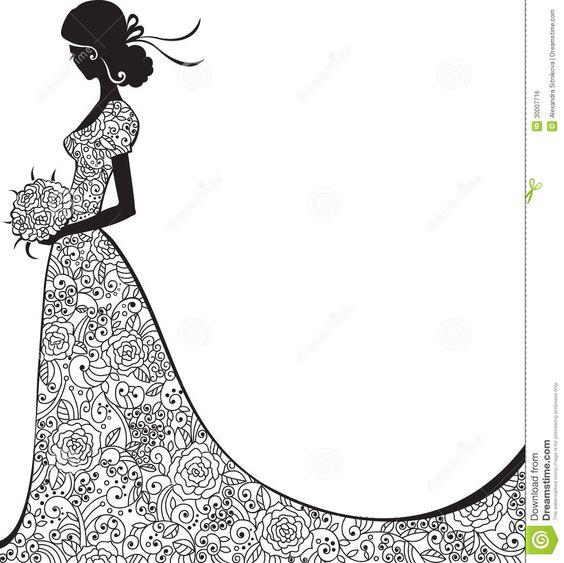 Elegant Bride Clipart.