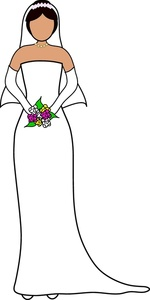 Free clipart bride at computer.