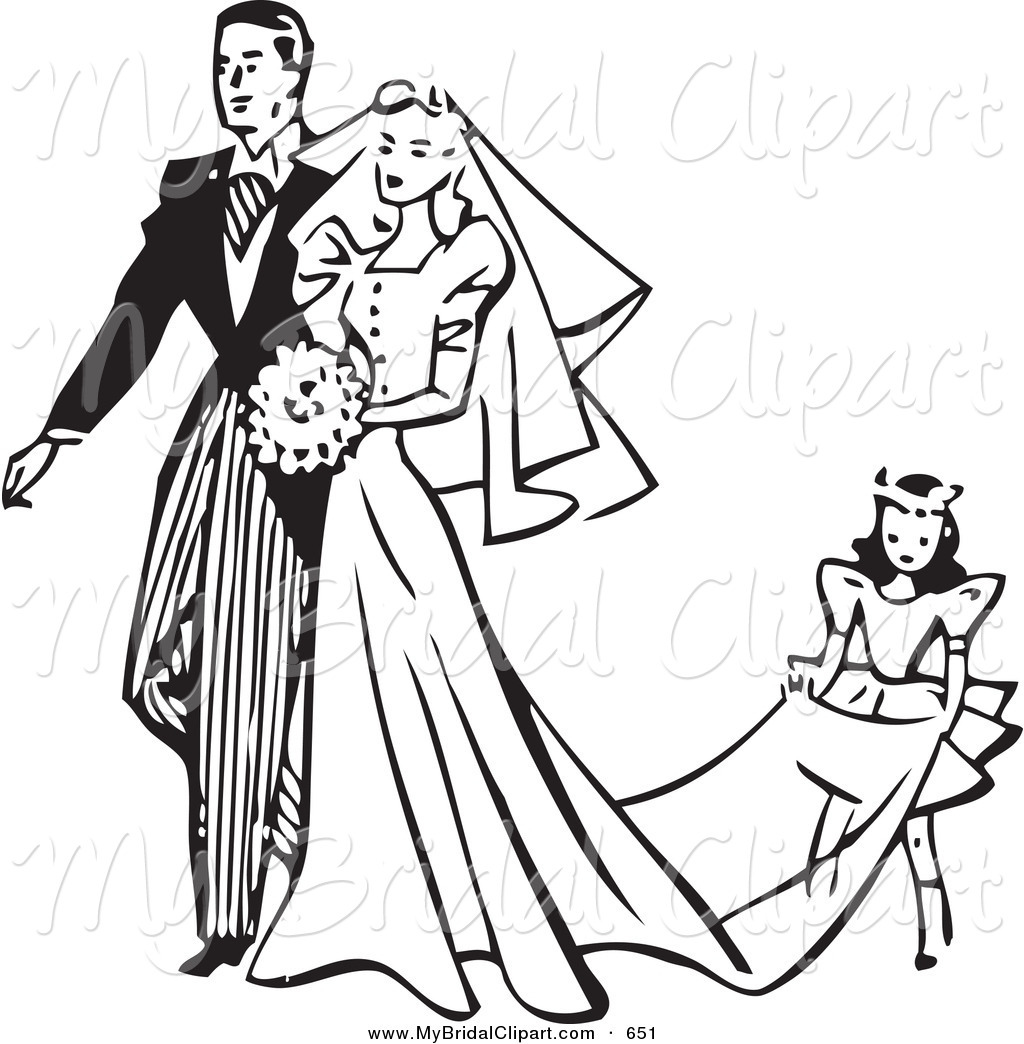 Free Wedding Clipart Black And White.