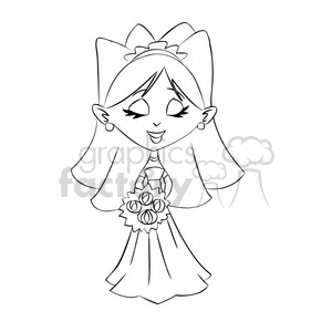 novia black and white clipart. Royalty.