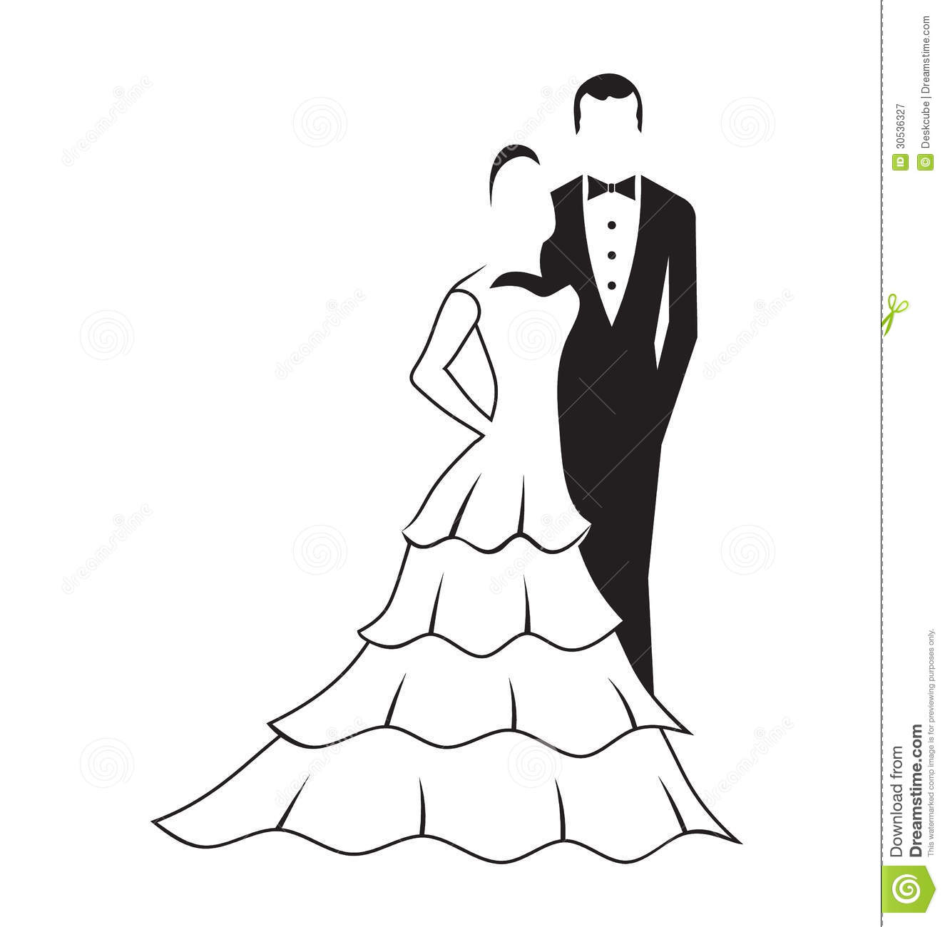 Black and white groom and bride clipart PNG and cliparts for Free.