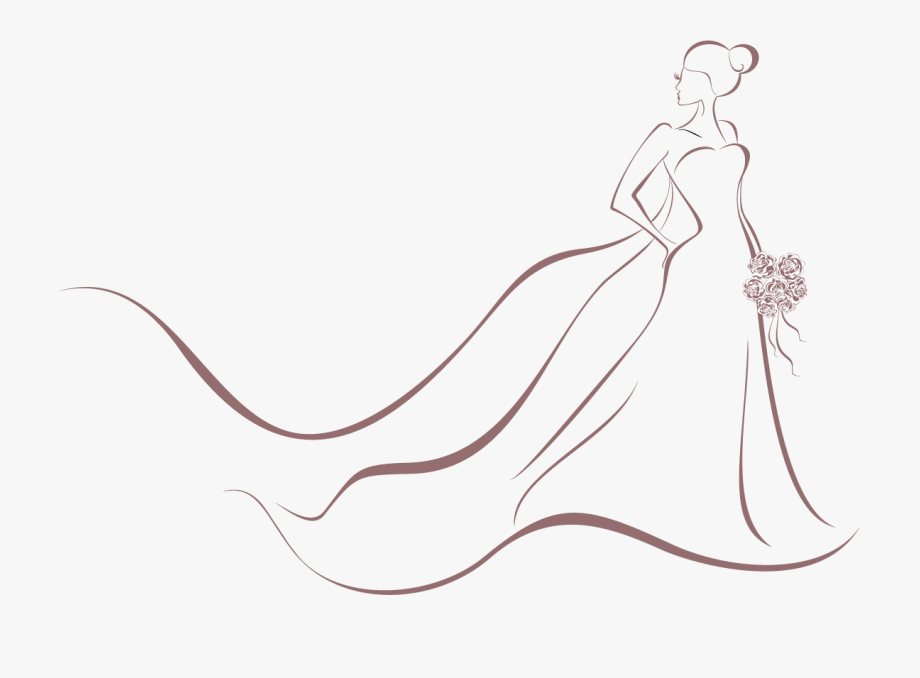 Wedding Invitation Bride Dress Clip Art.