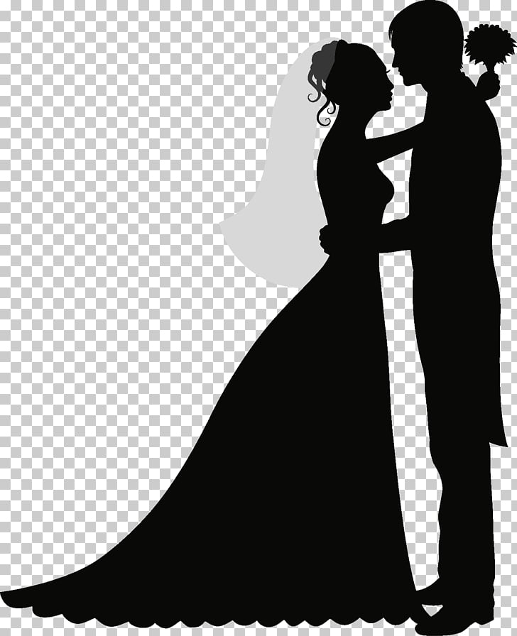 Wedding invitation Wedding cake Silhouette , bride PNG.
