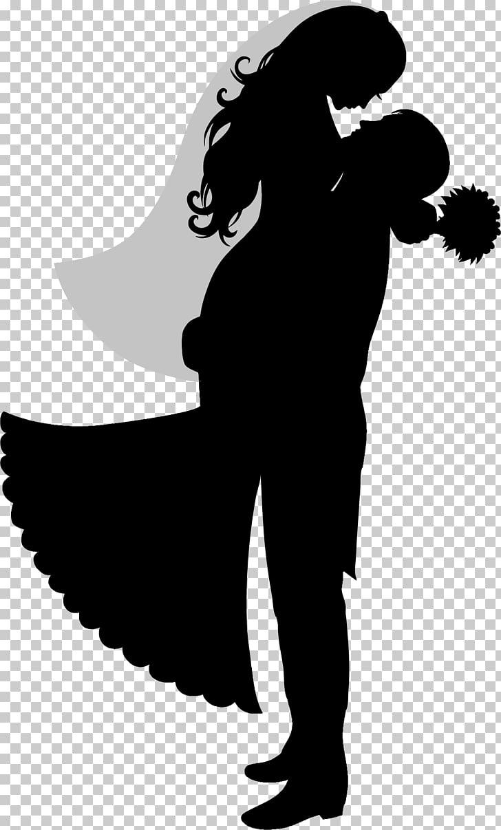 Wedding cake topper Bridegroom Silhouette, bride, groom and.