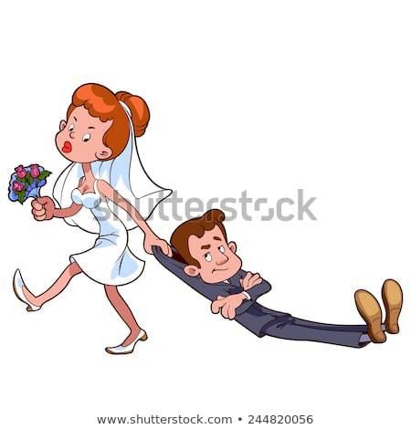 Bride dragging groom clipart 1 » Clipart Portal.