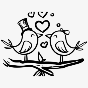 Love Birds Clipart Bride Groom.