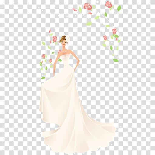 Bride Contemporary Western wedding dress, beautiful bride.