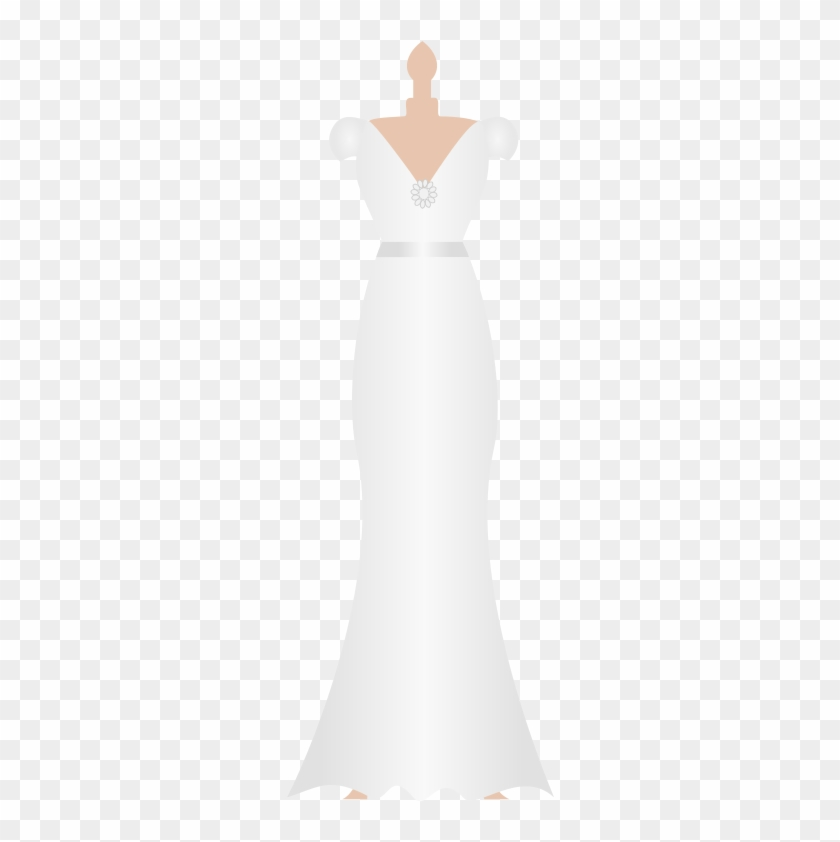 Wedding Dress Clipart Kid Dress.