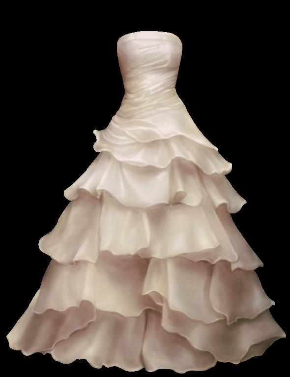 Wedding dress PNG.
