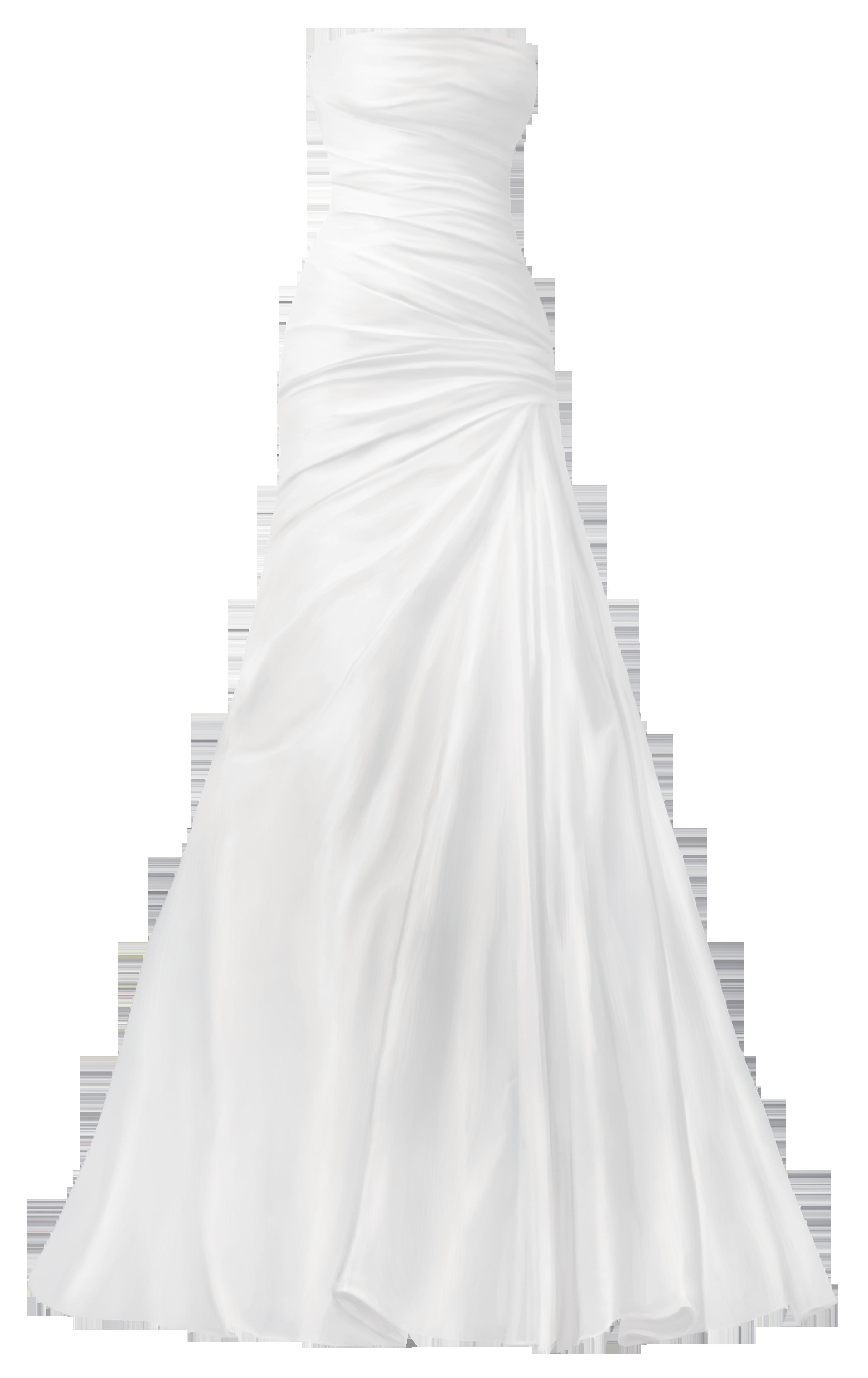 Classical Wedding Dress PNG Clip Art.