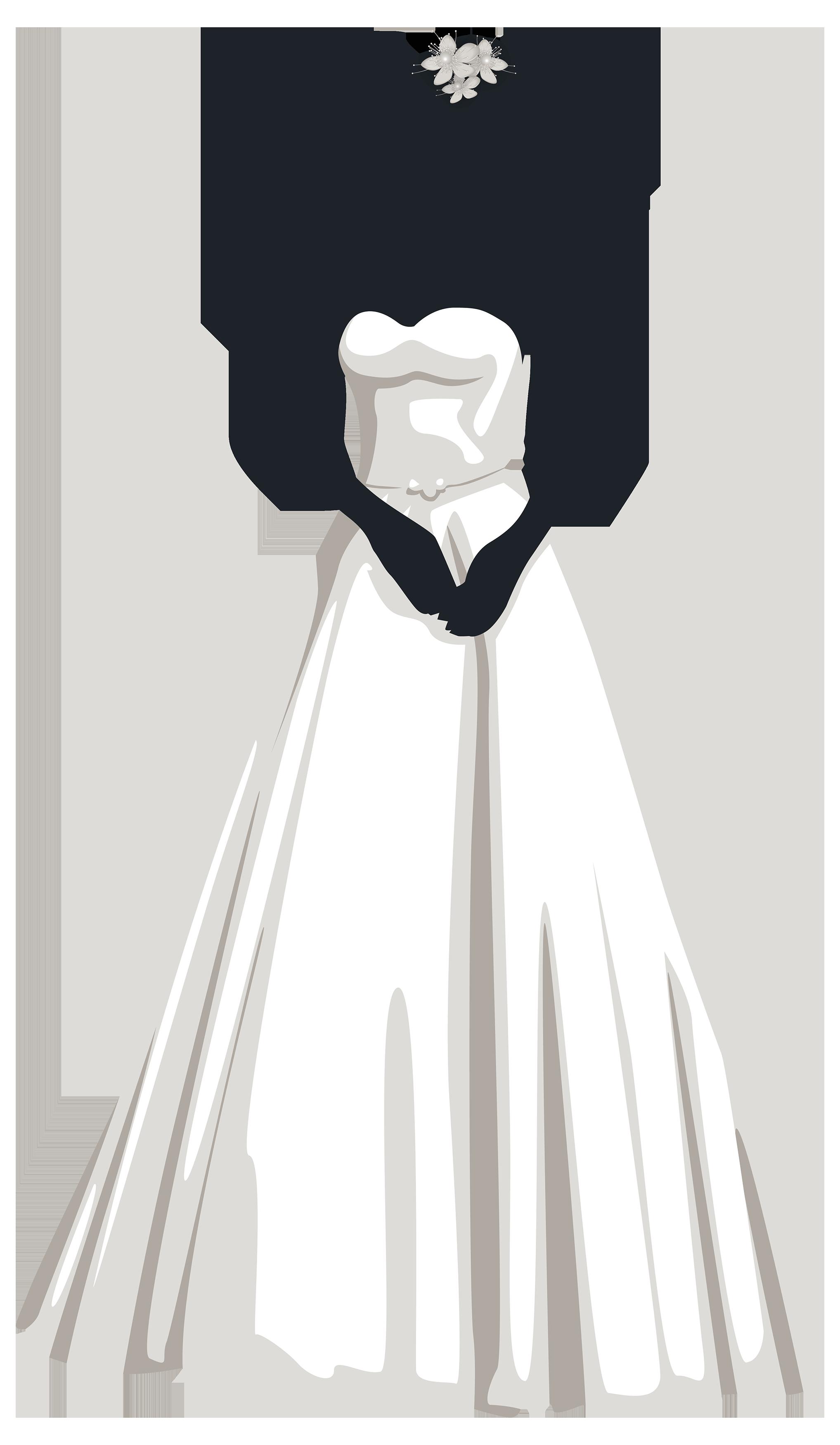 Bride Silhouette PNG Clip Art.