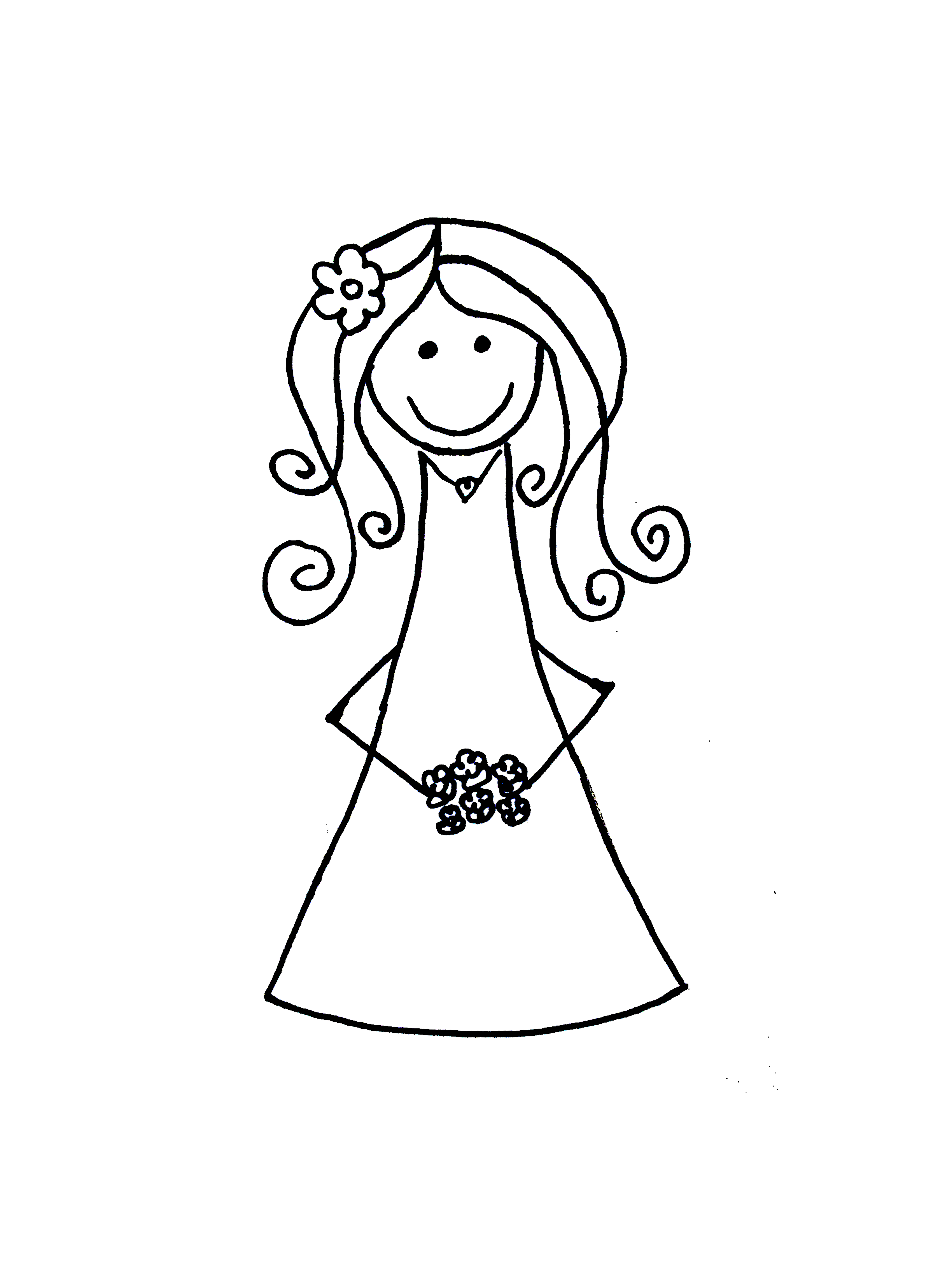 Bride cartoon clip art.