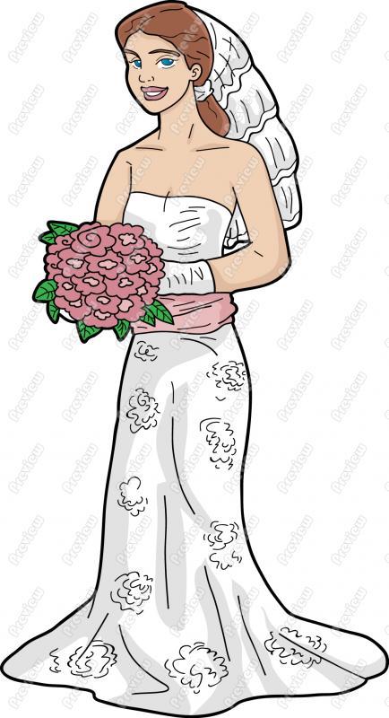 Bride cartoon clip art.