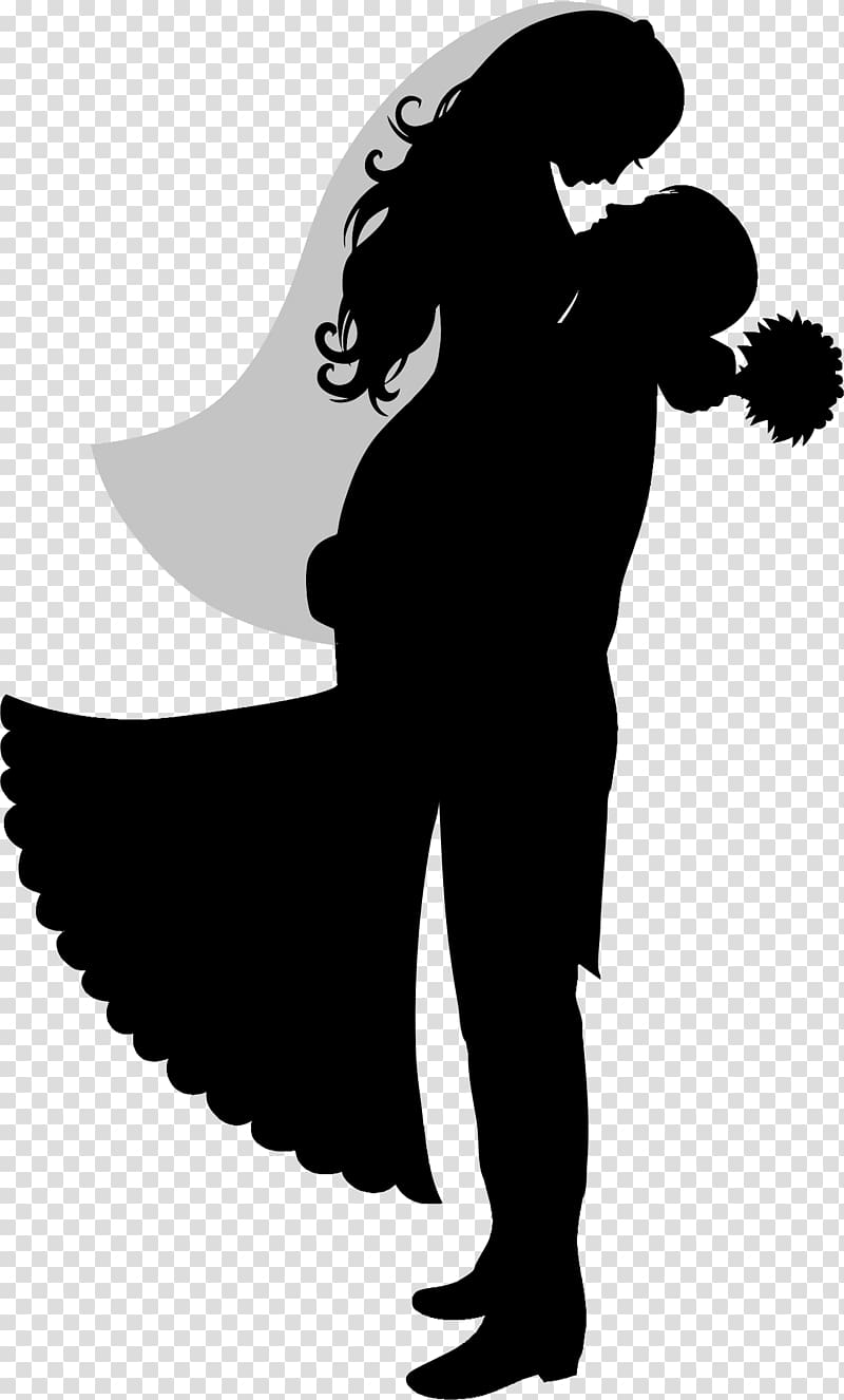 Groom and bride , Wedding cake topper Bridegroom Silhouette.