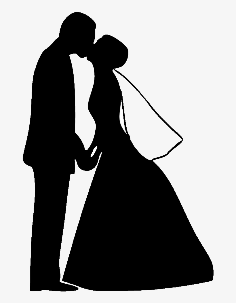 Free Bride And Groom Silhouette Png.