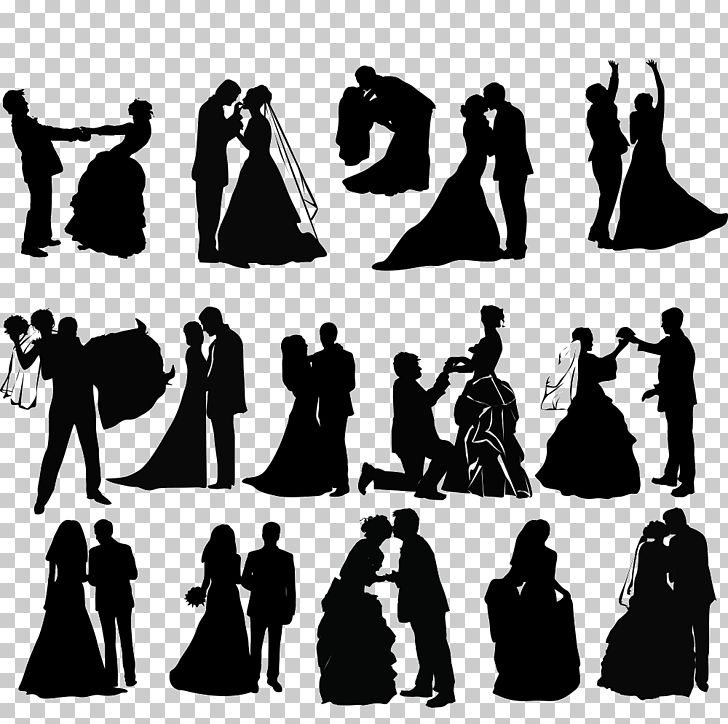 Wedding Invitation Silhouette PNG, Clipart, Art, Black And White.