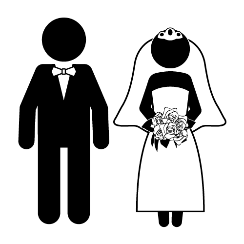 Bride And Groom Funny Clipart.