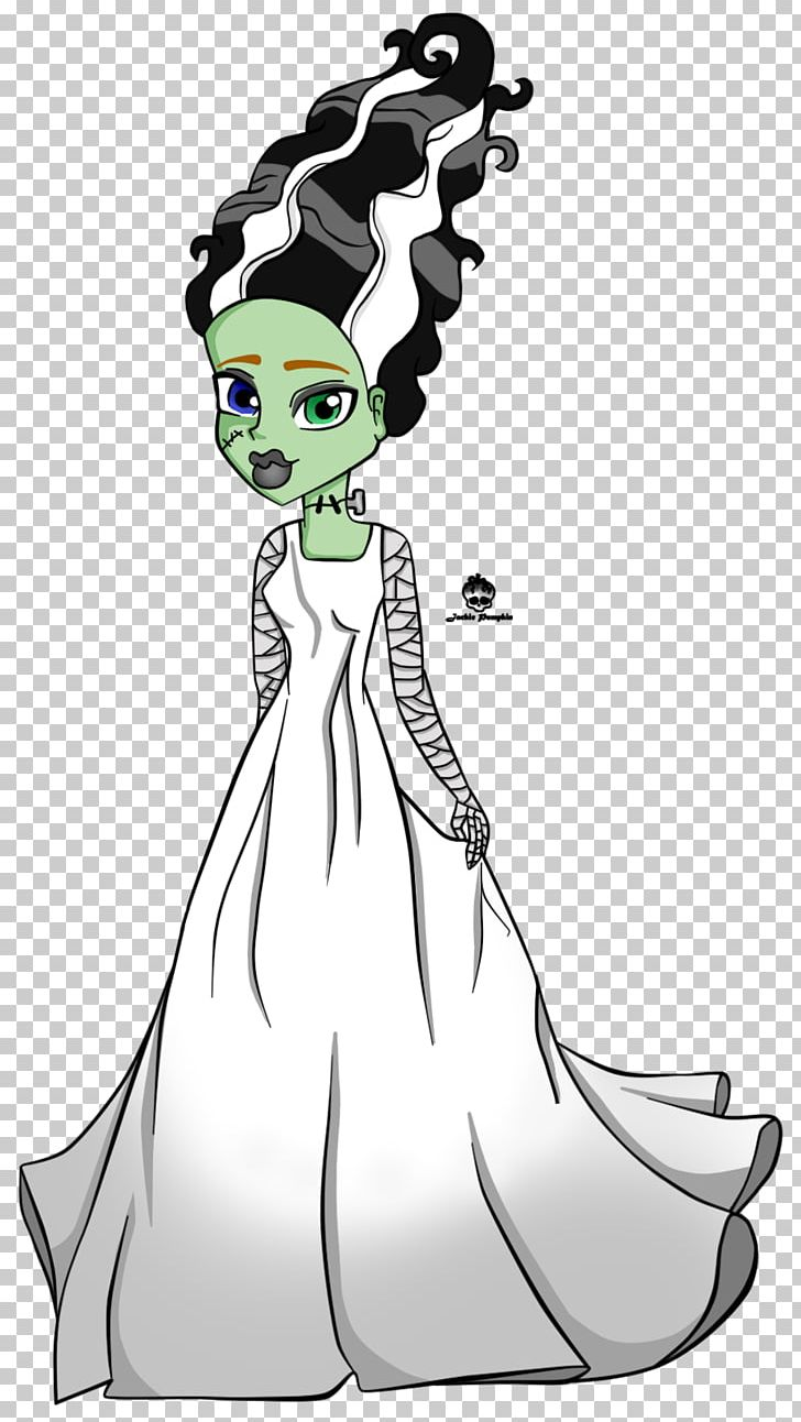 Frankie Stein The Bride Of Frankenstein Monster High Drawing PNG.
