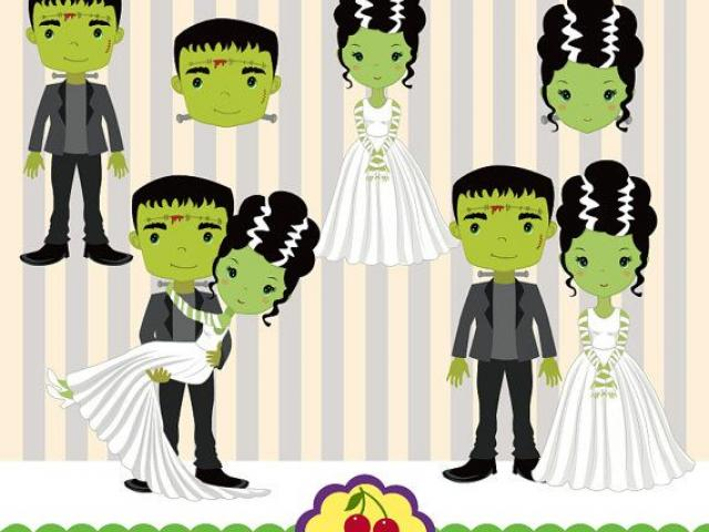 Free Bride Of Frankenstein Clipart, Download Free Clip Art on Owips.com.