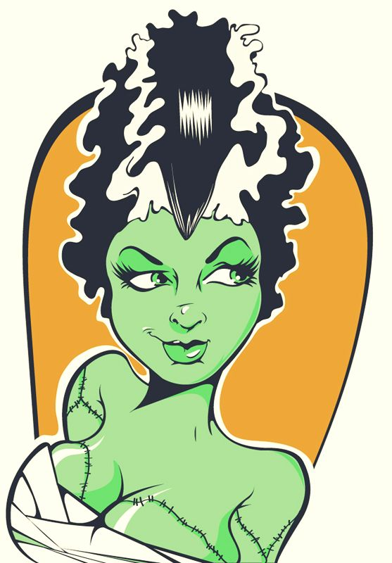 Frankenstein Cartoon Face Clipart.