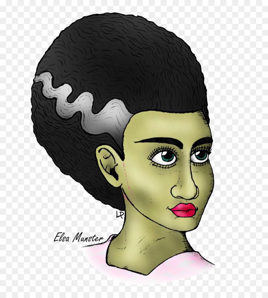 Bride Of Frankenstein Face png download.