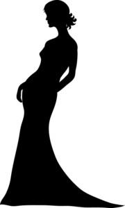Bride Silhouette Free Clipart.