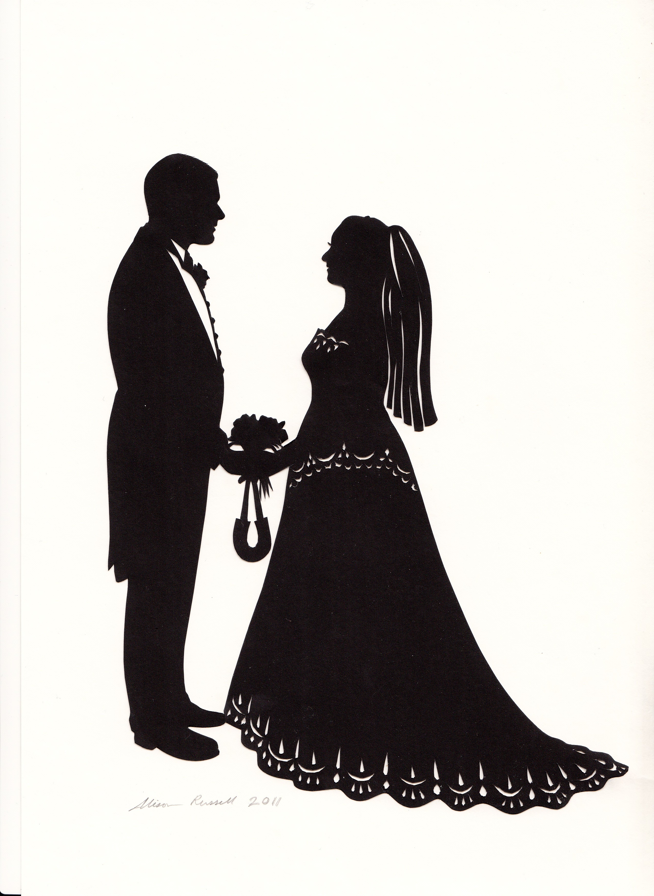 Bride And Groom Silhouette Clip Art & Bride And Groom Silhouette.