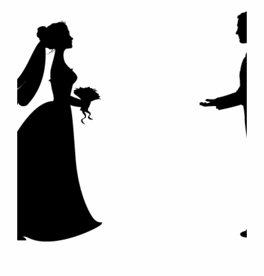 Bride Clipart Bride And Groom Silhouette Wedding Clipart.
