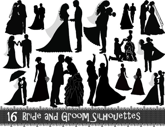 Wedding Silhouette Clip Art & Look At Clip Art Images.