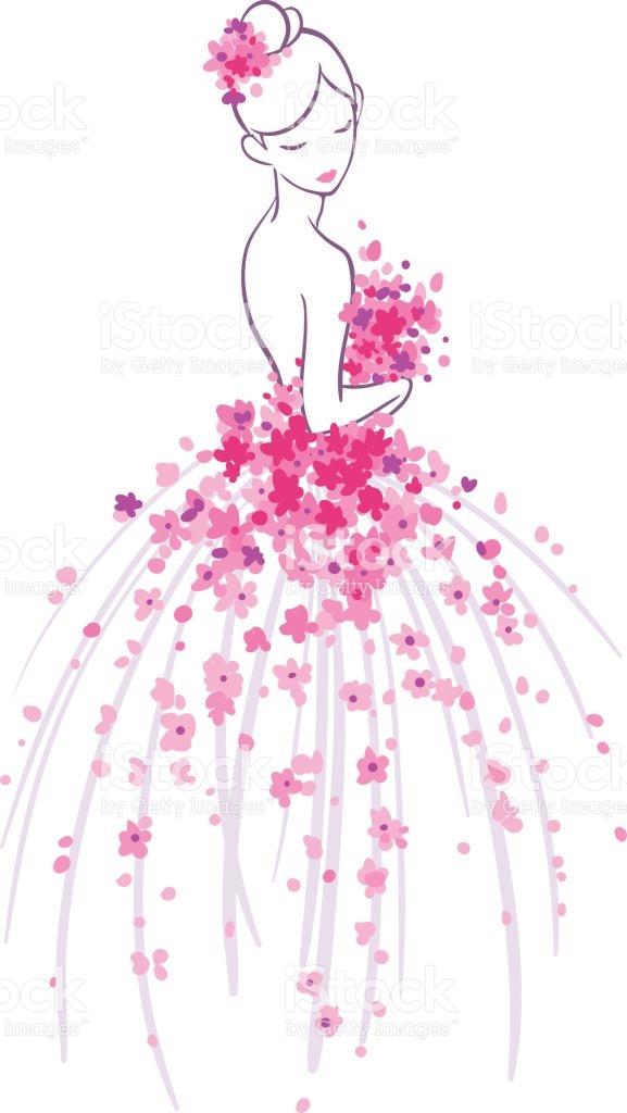 Bride Sketch Clipart.