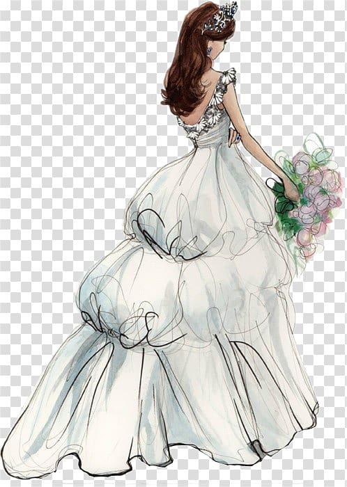Bridal clipart bride sketch, Bridal bride sketch Transparent.