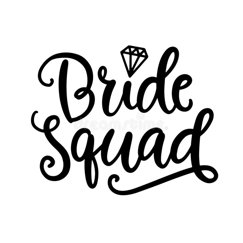 Bride Squad Stock Illustrations.