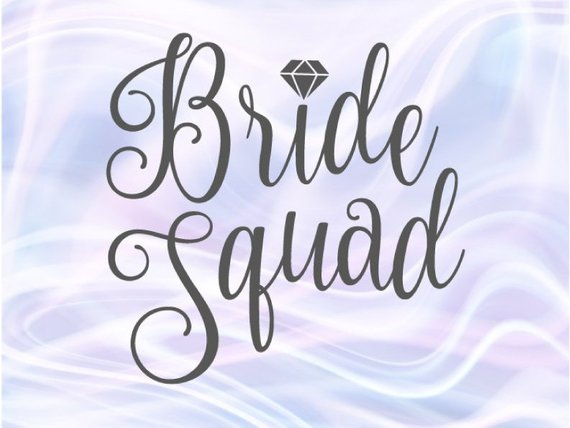 Bride Squad Bachelorette SVG Team Bride Tribe Wedding Bridal Robes  Silhouette Cut.