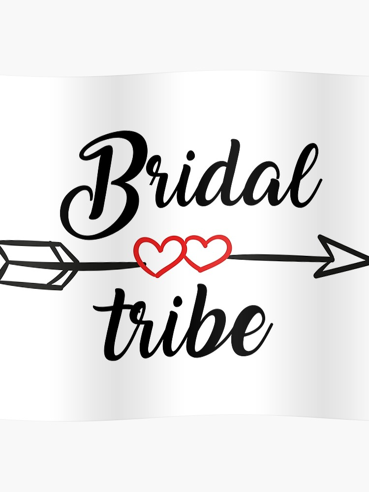 Bride Tribe Promotion & Beyond P&B Wedding Bridal Party Gear Bride Tribe  Women\'s V.