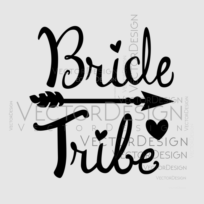 Bride Tribe Graphics SVG Dxf EPS Png Cdr Ai Pdf Vector Art Clipart instant  download Digital Cut Print File.