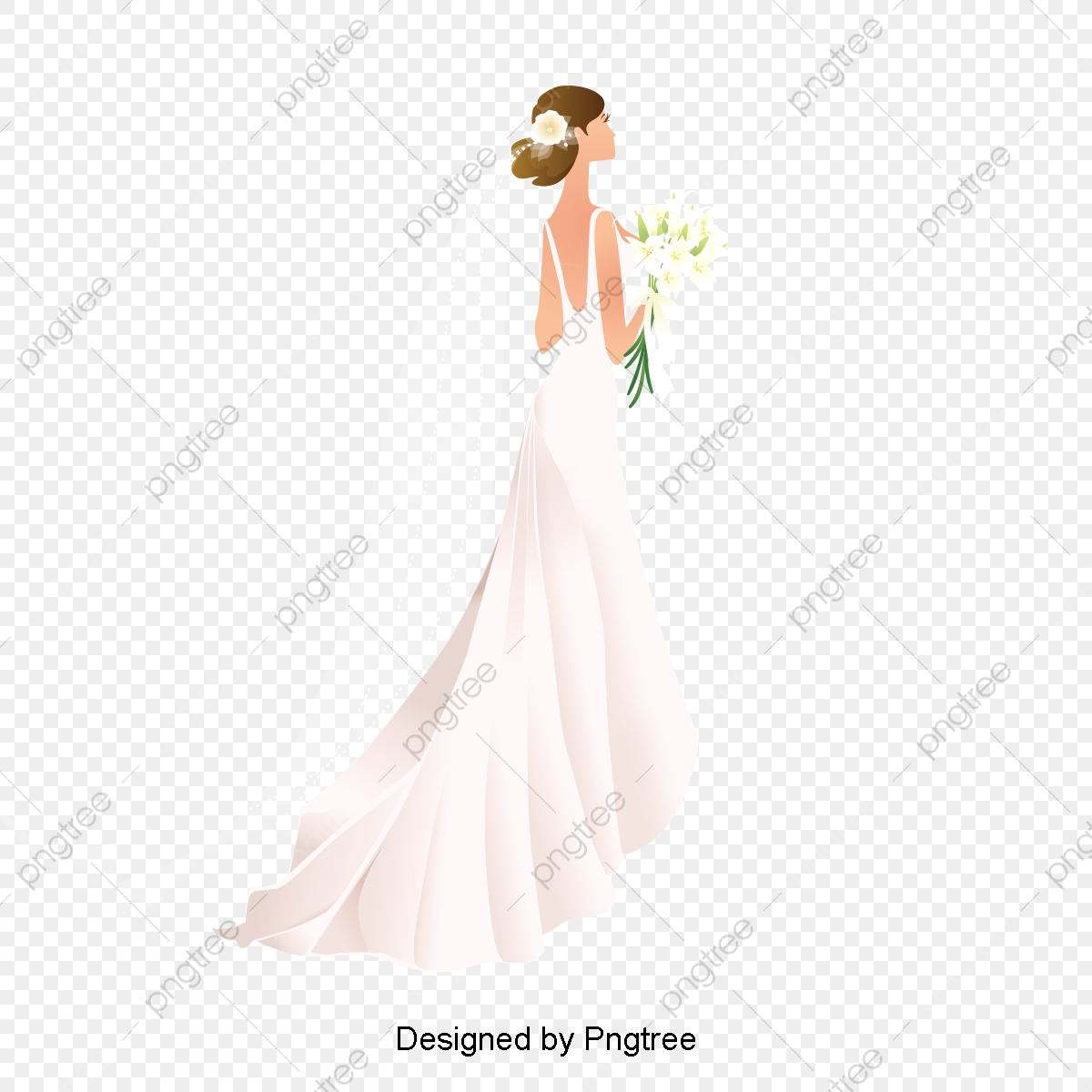 Vector Bride, Bride, New Personality, Wedding Dress PNG and Vector.