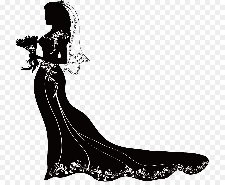 Bride PNG Black And White Transparent Bride Black And White.PNG.