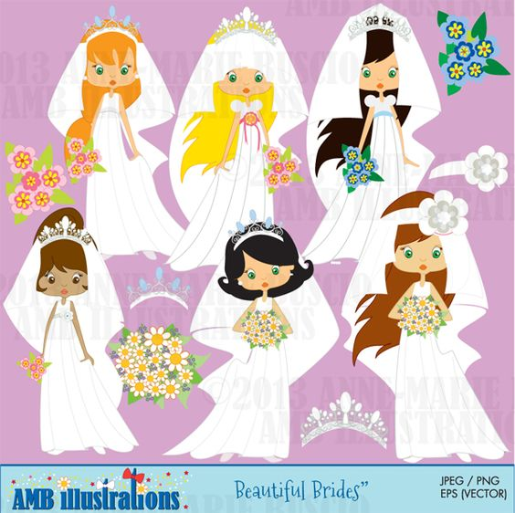Beautiful Brides clipart.