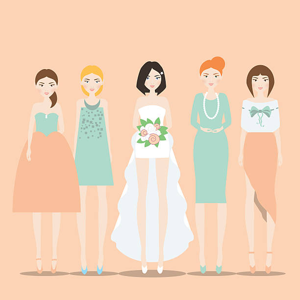 Best Bridesmaid Illustrations, Royalty.