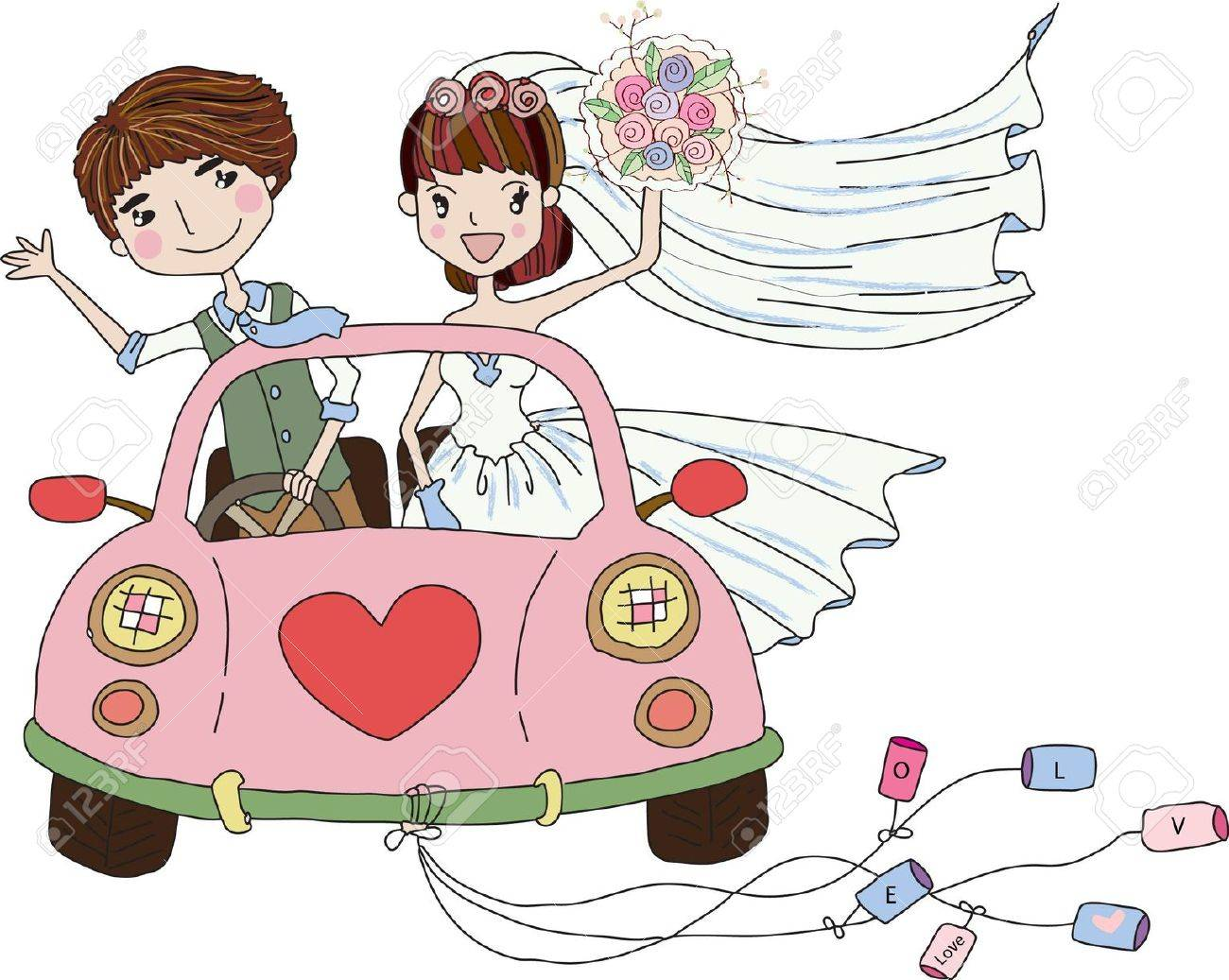 Wedding Bride, bridesmaid clipart.