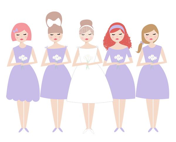 Bridesmaid Clip Art Free.