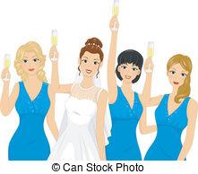 Bridesmaid Clipart Vector and Illustration. 399 Bridesmaid clip.
