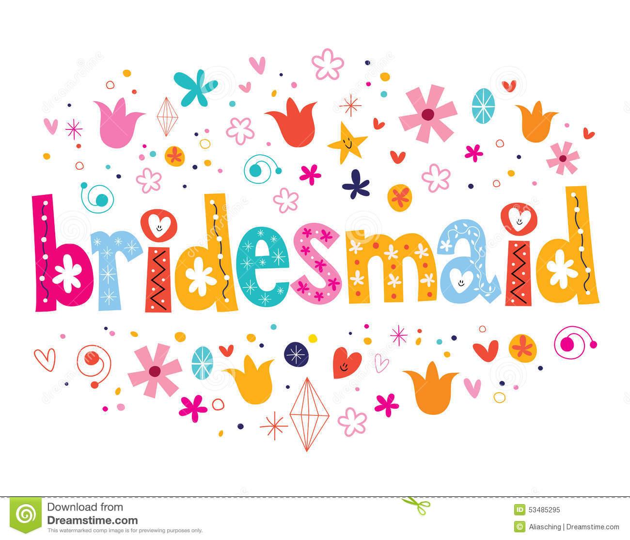 Bridesmaid Clip Art Free.
