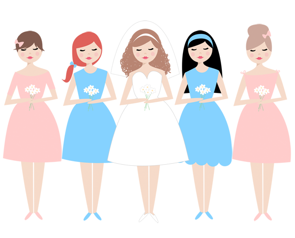 Bridesmaid Clipart.
