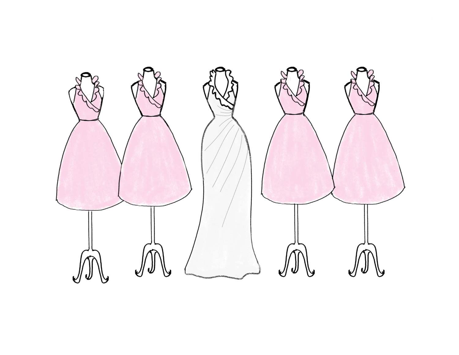 Bridesmaid clip art.